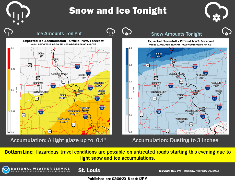 Snow and Ice Tonight could lead to difficult travel conditions