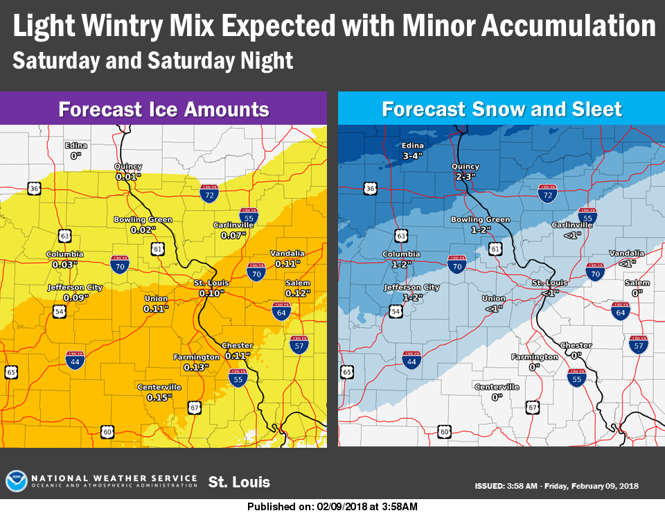 Mild Today, Freezing Rain on the way for weekend