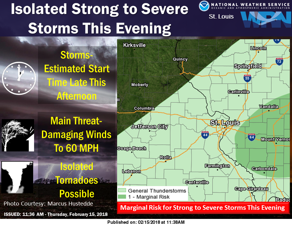 Strong to Severe Storms possible this evening