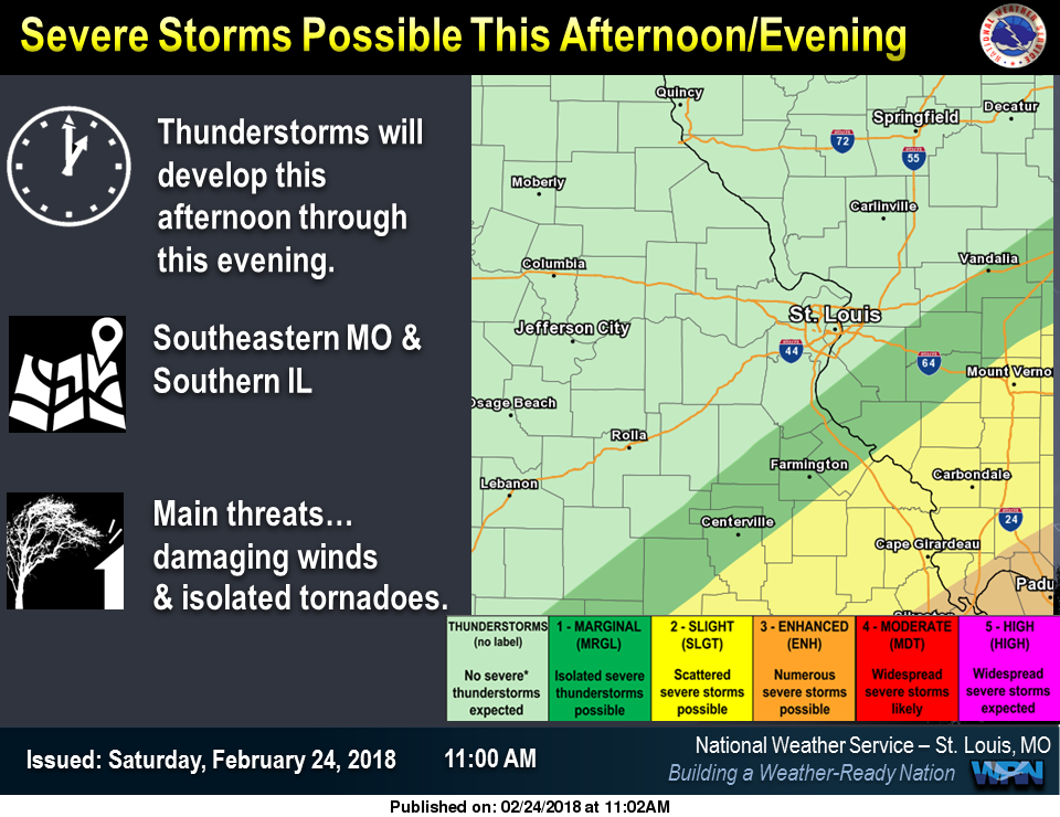 Chance of Strong to Severe Storms for this Evening across the area