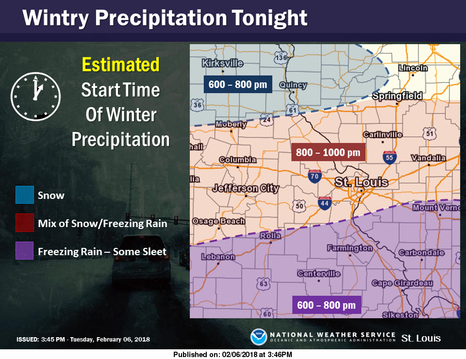 NWS-Winter Precip should start for this area between 8 pm & 10 pm