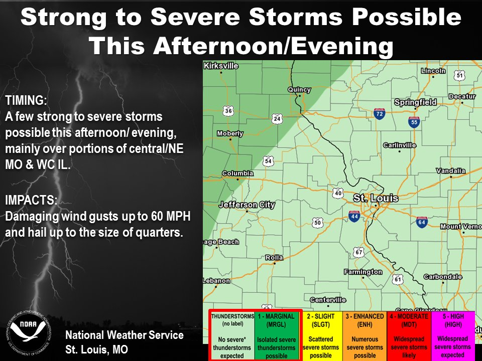 Severe Storms possible for this afternoon/tonight
