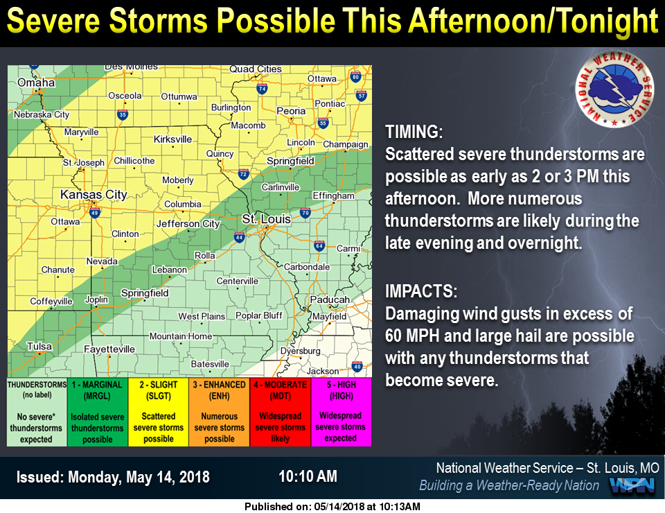 We could see some strong to severe storms tonight