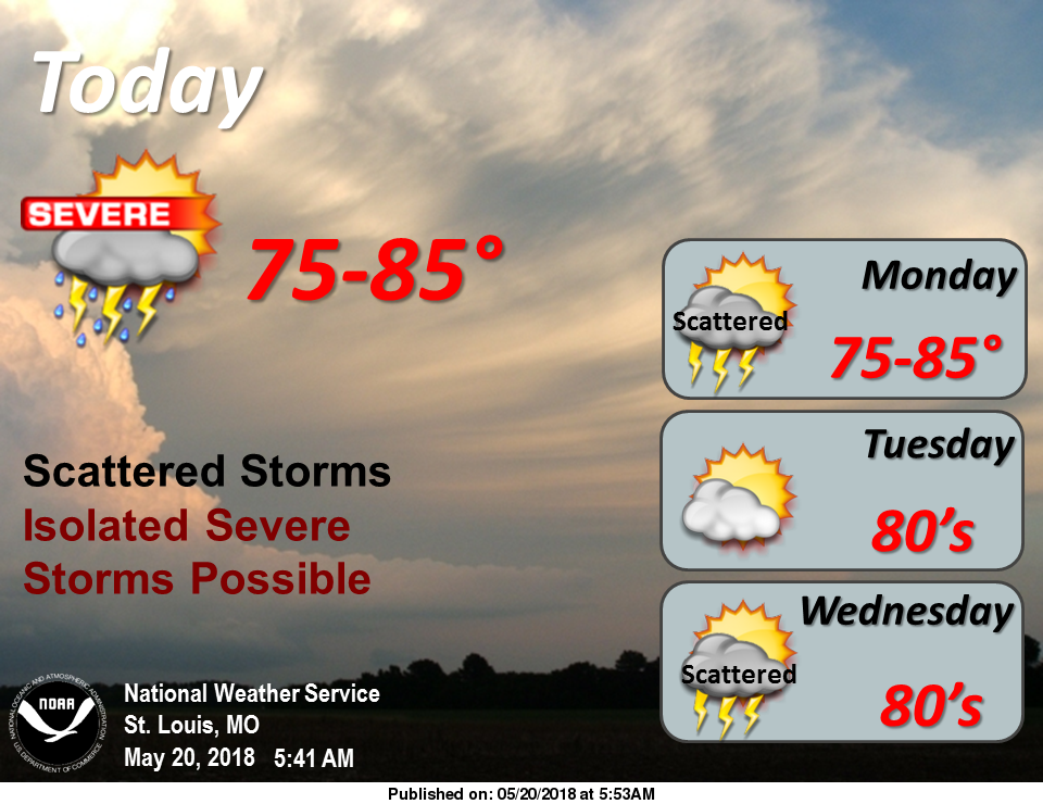 Storms for today & tonight---Severe Weather is possible