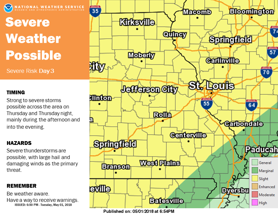 Warm & Windy today, Storms Tonight & Tomorrow, severe storms possible Thursday