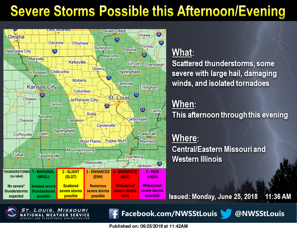 Severe Storms are possible this afternoon & evening