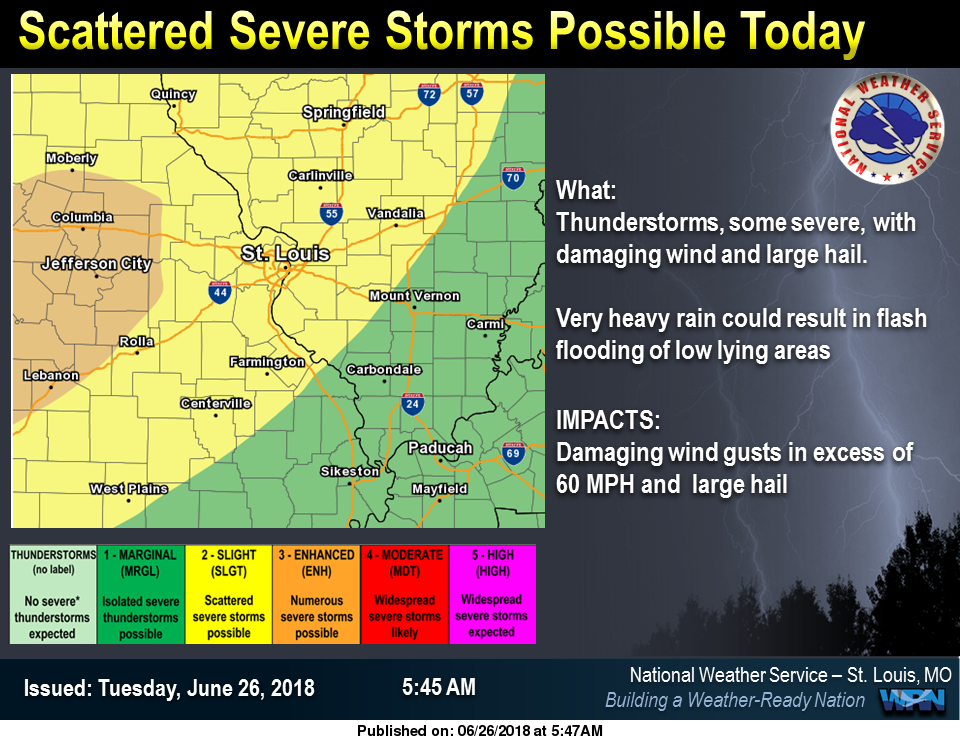 Severe Storms are possible today