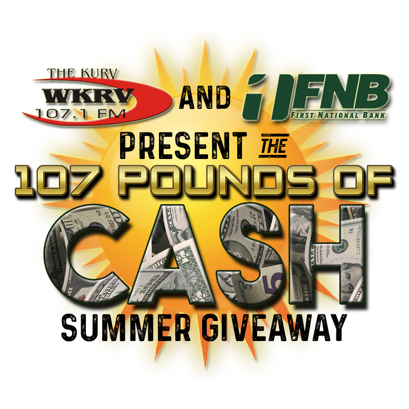 107 Pounds of Cash at Fayette County Fair tonight!