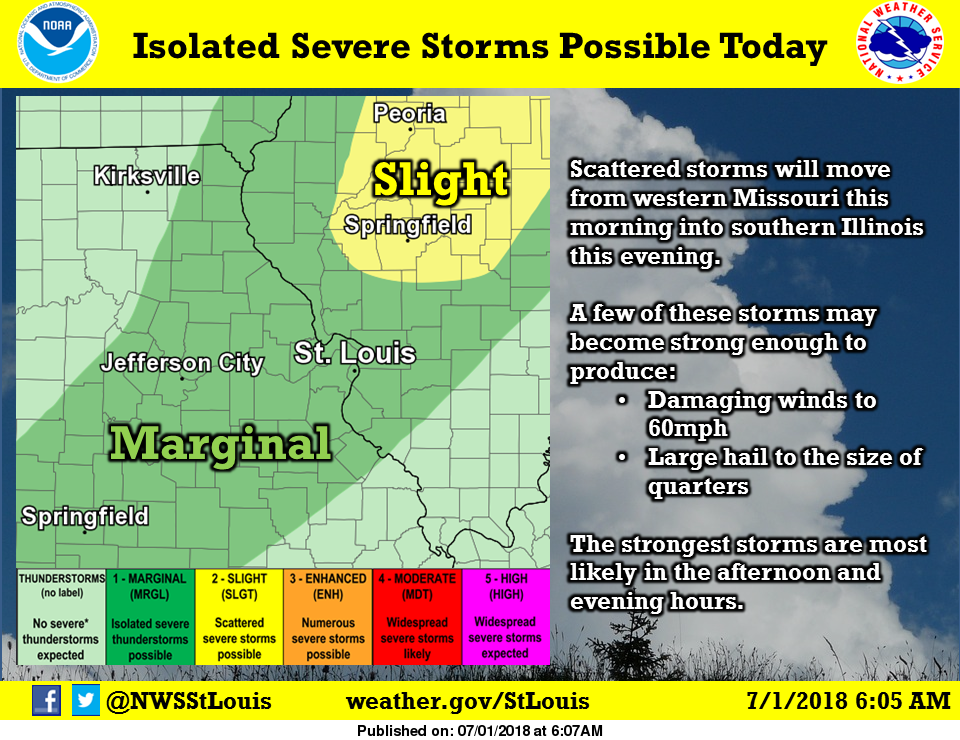 Extreme Heat remains today, Isolated Severe Storms possible this afternoon & tonight