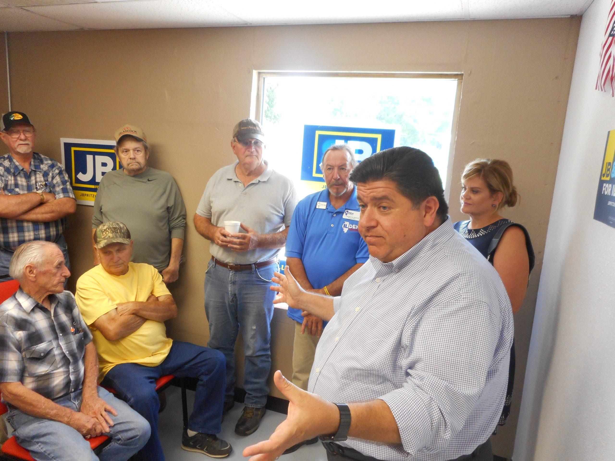 Democrat Candidate for Governor J.B. Pritzker makes stop in Vandalia