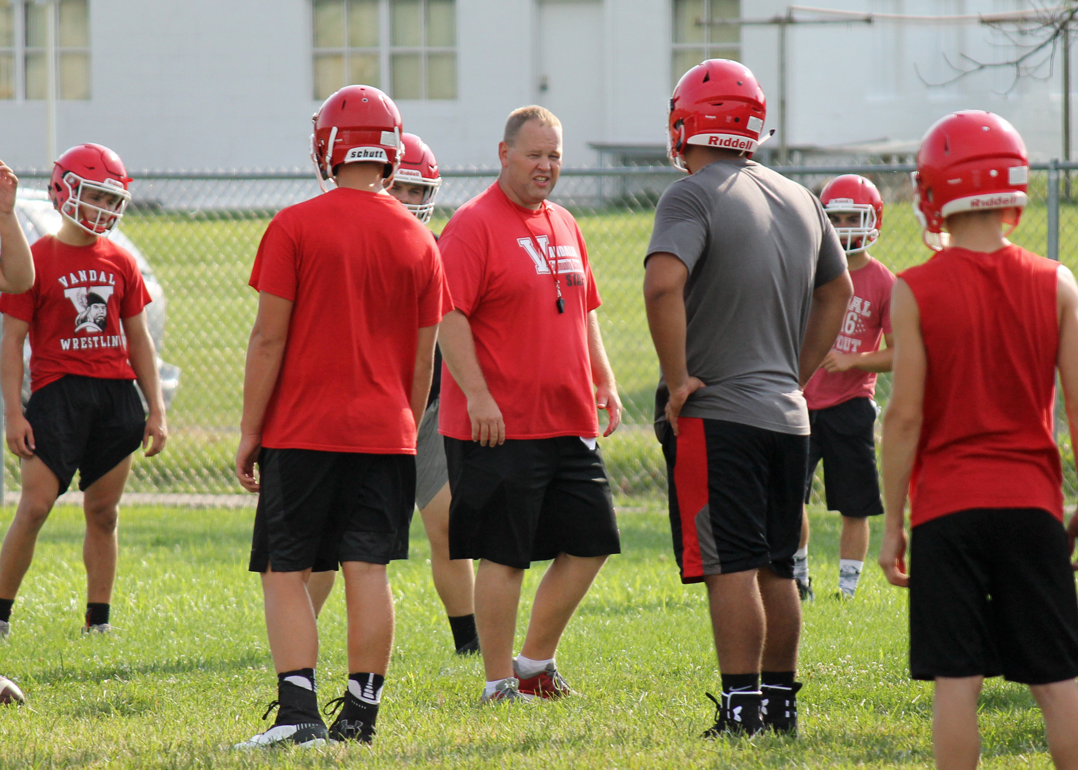 Vandals hold first practice to kick off the 2018 high school football season