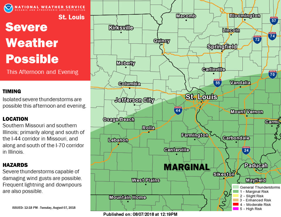 Severe Storms are possible for this afternoon & tonight