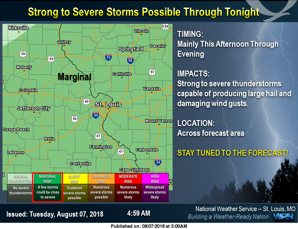 Strong to Severe Storms are possible thru tonight