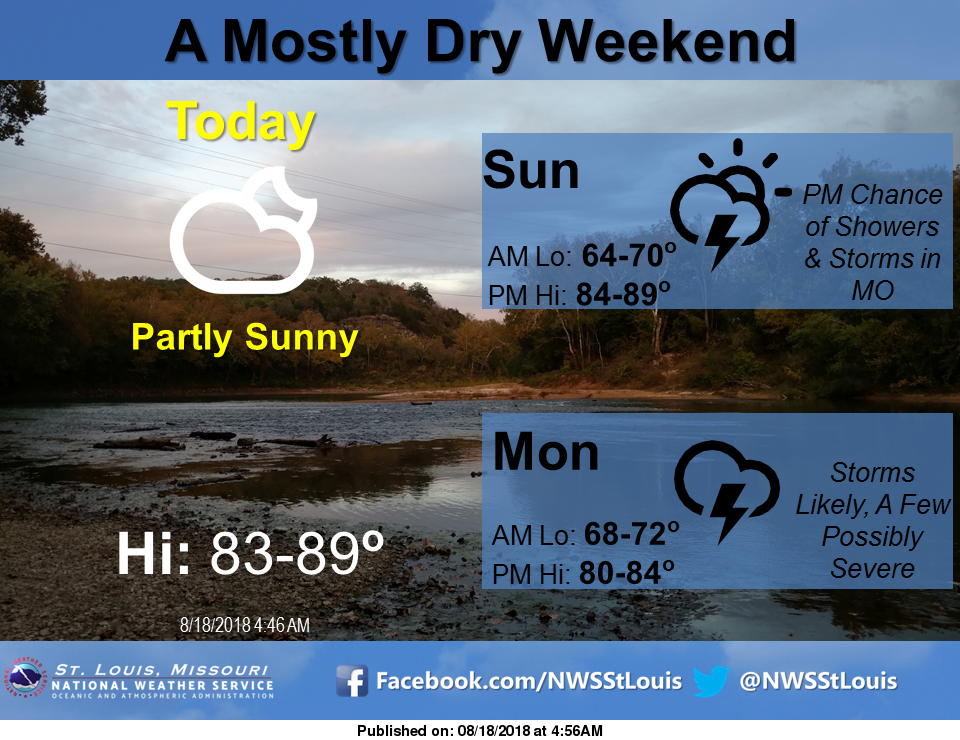 Mild Weather for the weekend, storms return to the area on Monday