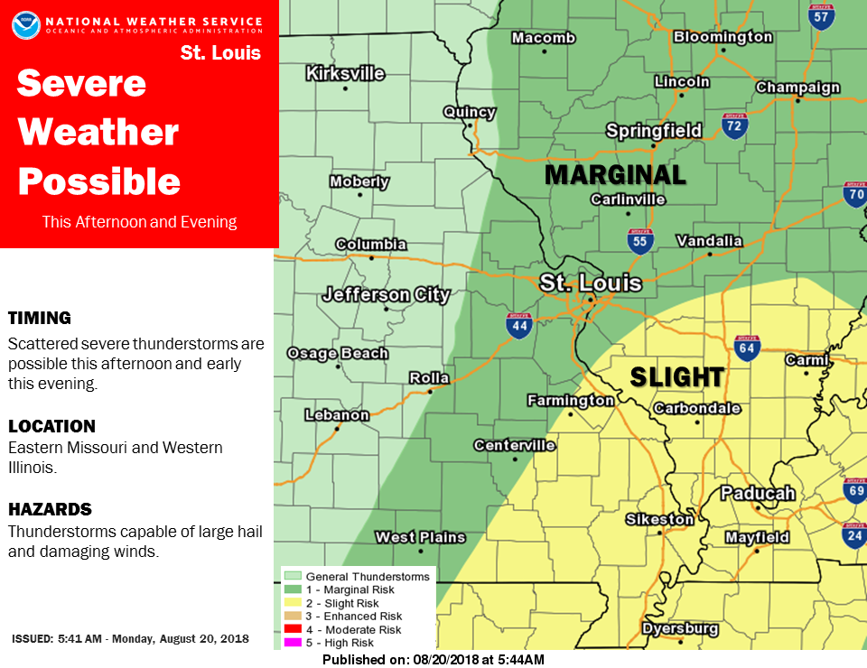 Severe Storms possible this afternoon/this evening