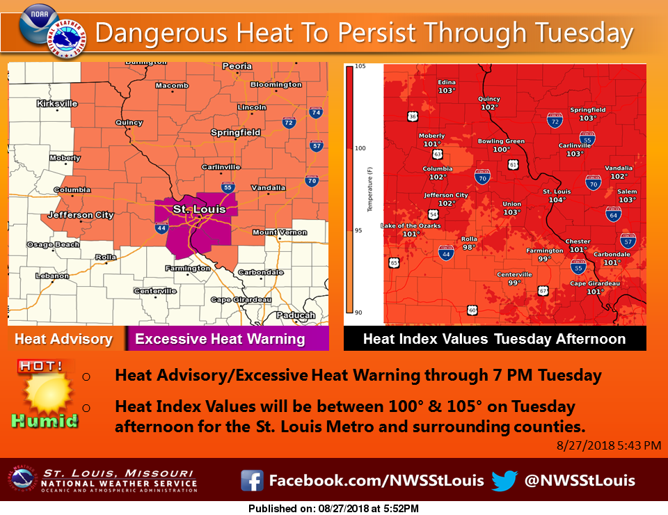Heat Advisory in effect until 7 pm