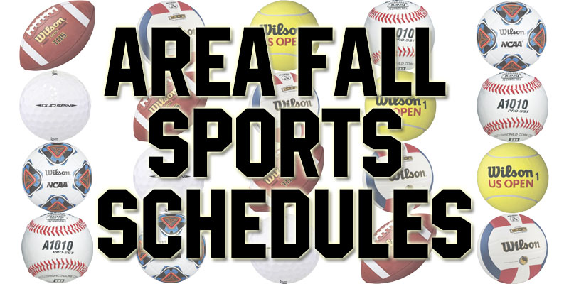 Full Area Fall Sports Schedules
