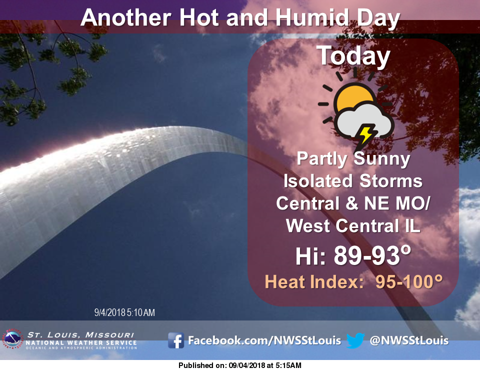 Hot & Dry today, increasing chances of rain later this week