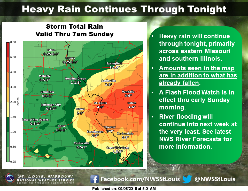 Heavy Rain with us today, tonight, and into Sunday