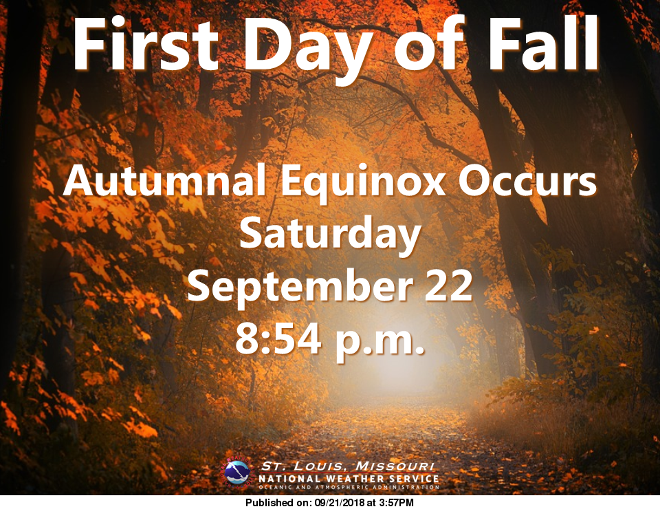 Fall begins officially tonight, cooler temps are here