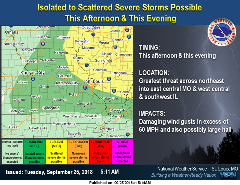 Severe Storms are Possible for Today