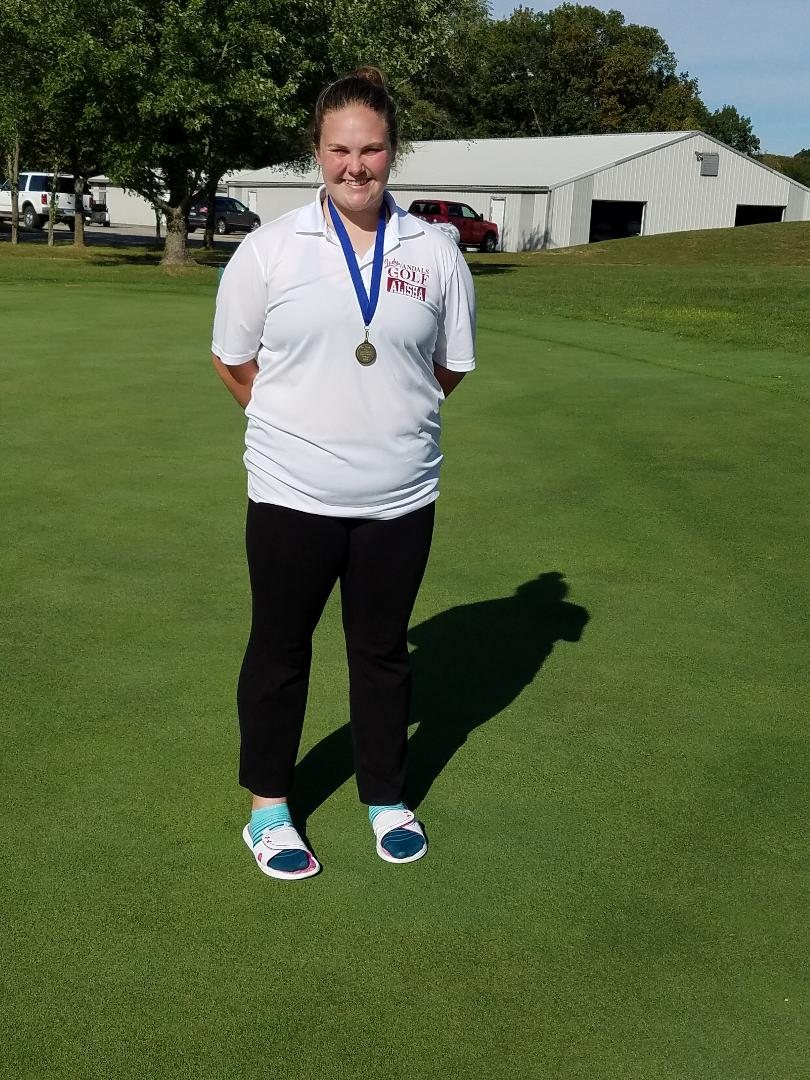Lady Vandals Golfer Alisha Swain finishes 6th at SCC meet to make All Conf Team