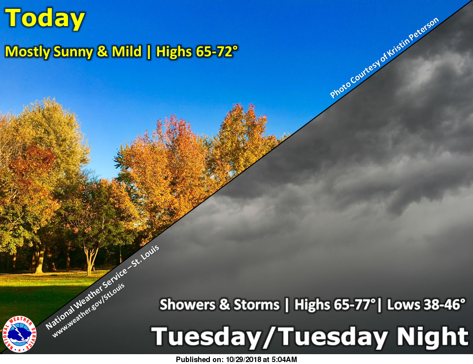 Warmer Temperatures for Today & Tomorrow