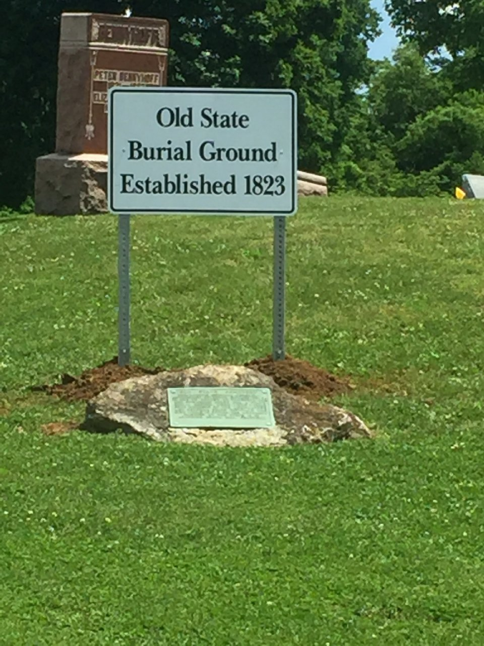 Improvement Work at Old State Burial Ground Completed Recently
