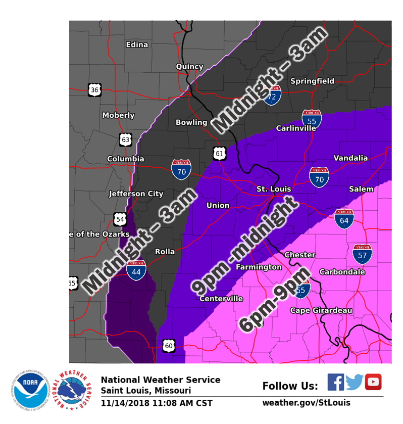 """NWS Updated Situation Report--6"""" of snow for Vandalia/Fayette Co...but could be even more"""