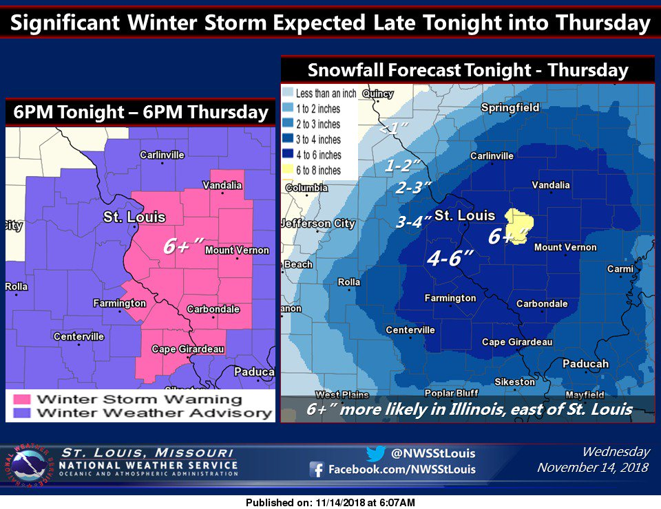 Major Winter Storm on it's way to area--Estimates put snow amounts at 5 to 7 inches for here