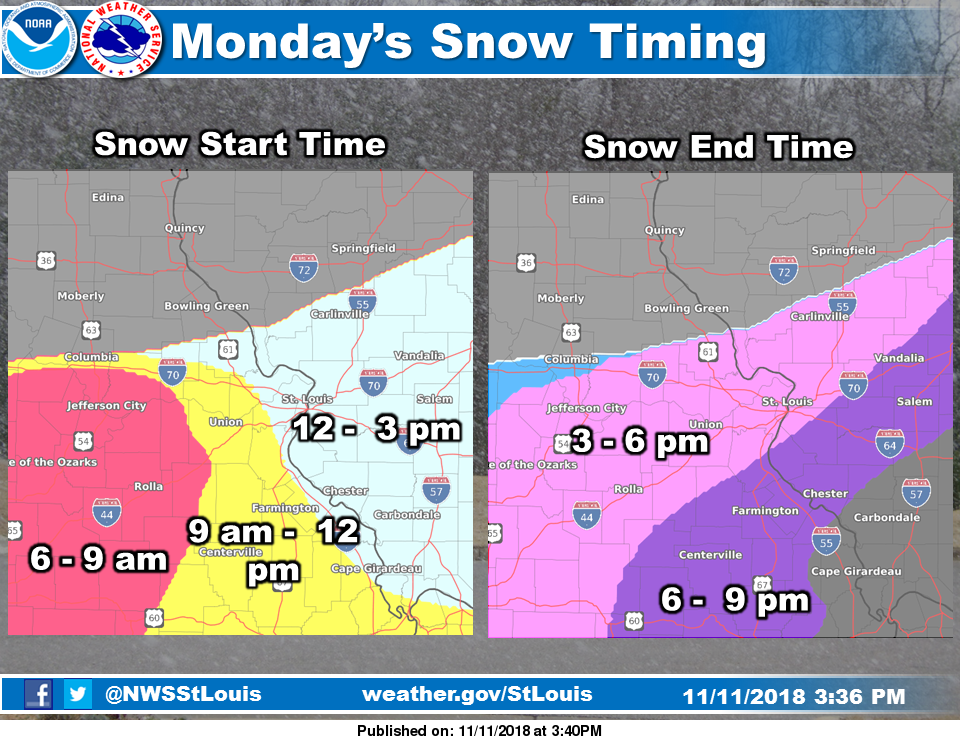 Snow today and tonight