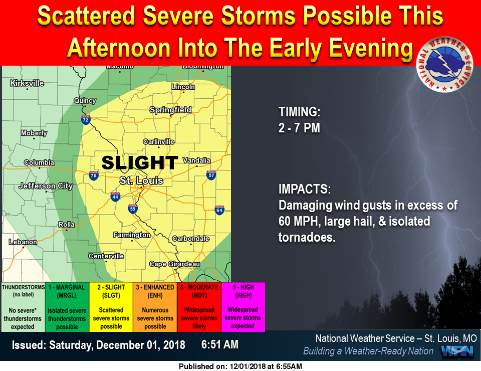 Severe Storms for the area this evening