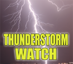 Thunderstorm Watch Until 10:00 PM for Most Central Illinois Counties