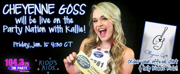 Kallie to interview Cheyenne Goss on the Party Nation Show