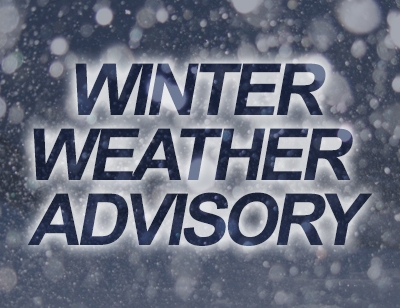 Winter Weather Advisory For Sunday (1/7/2018)