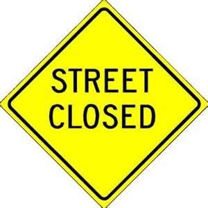 Street Closure in Charleston