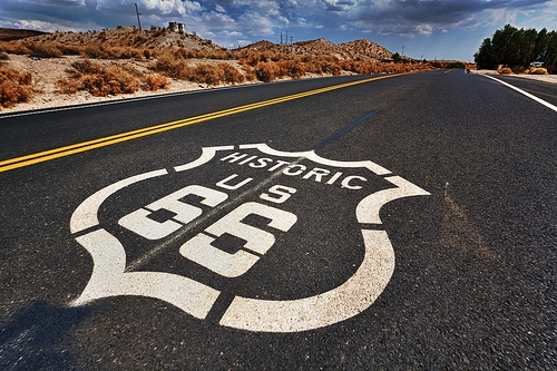 License Plate to Honor Route 66
