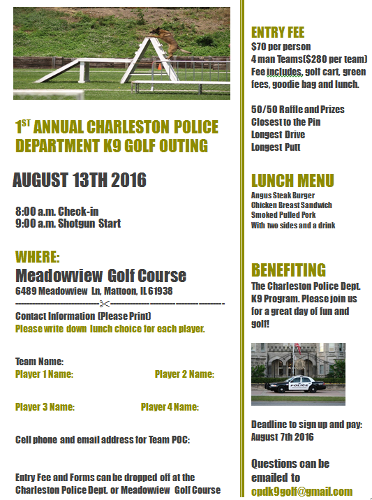 Charleston Police Department K9 Golf Outing