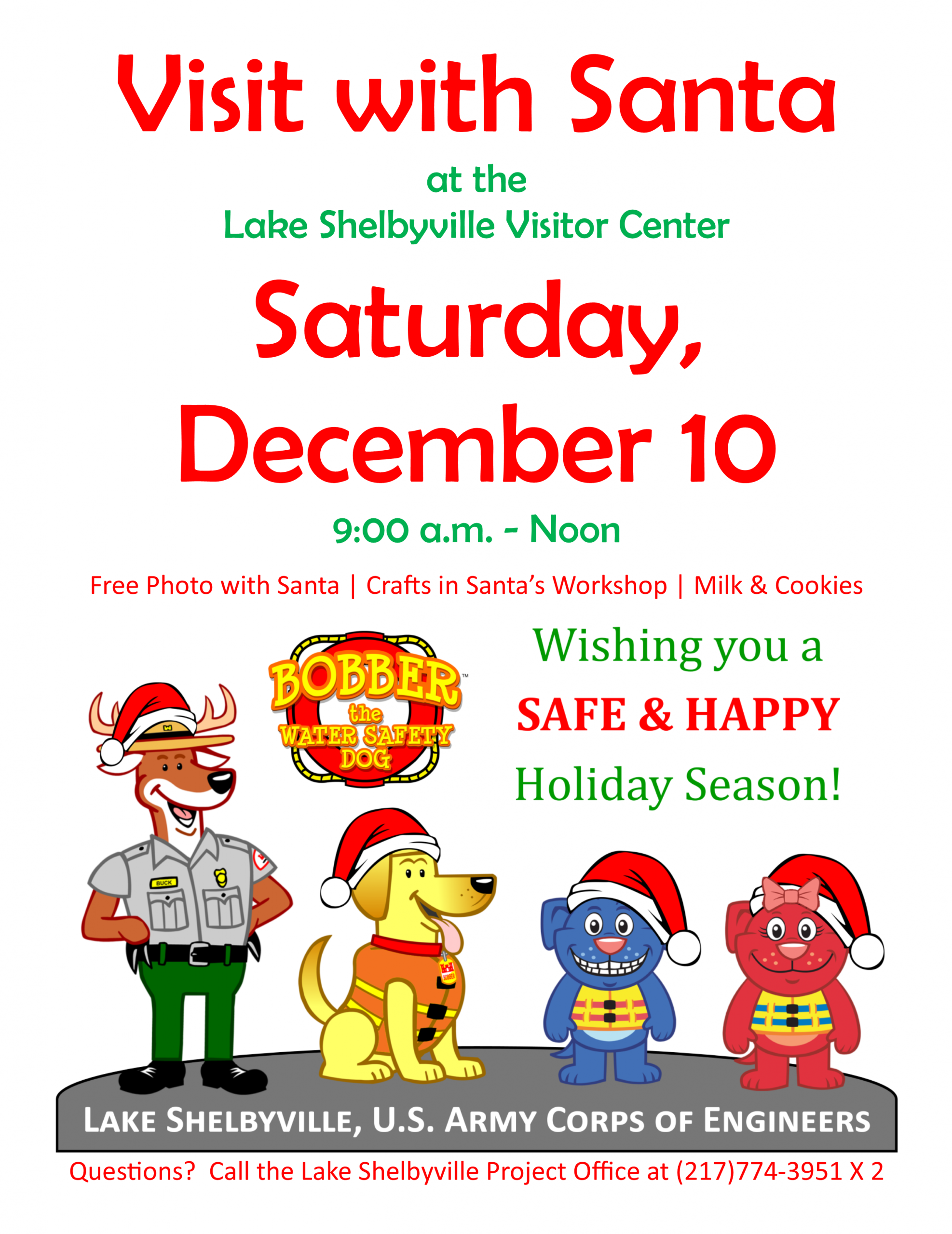 Santa Claus is coming to town on Saturday, December 10