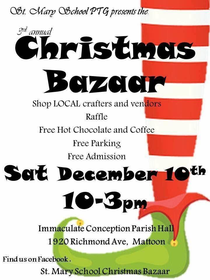 St. Mary School PTG 3rd Annual Christmas Bazaar!