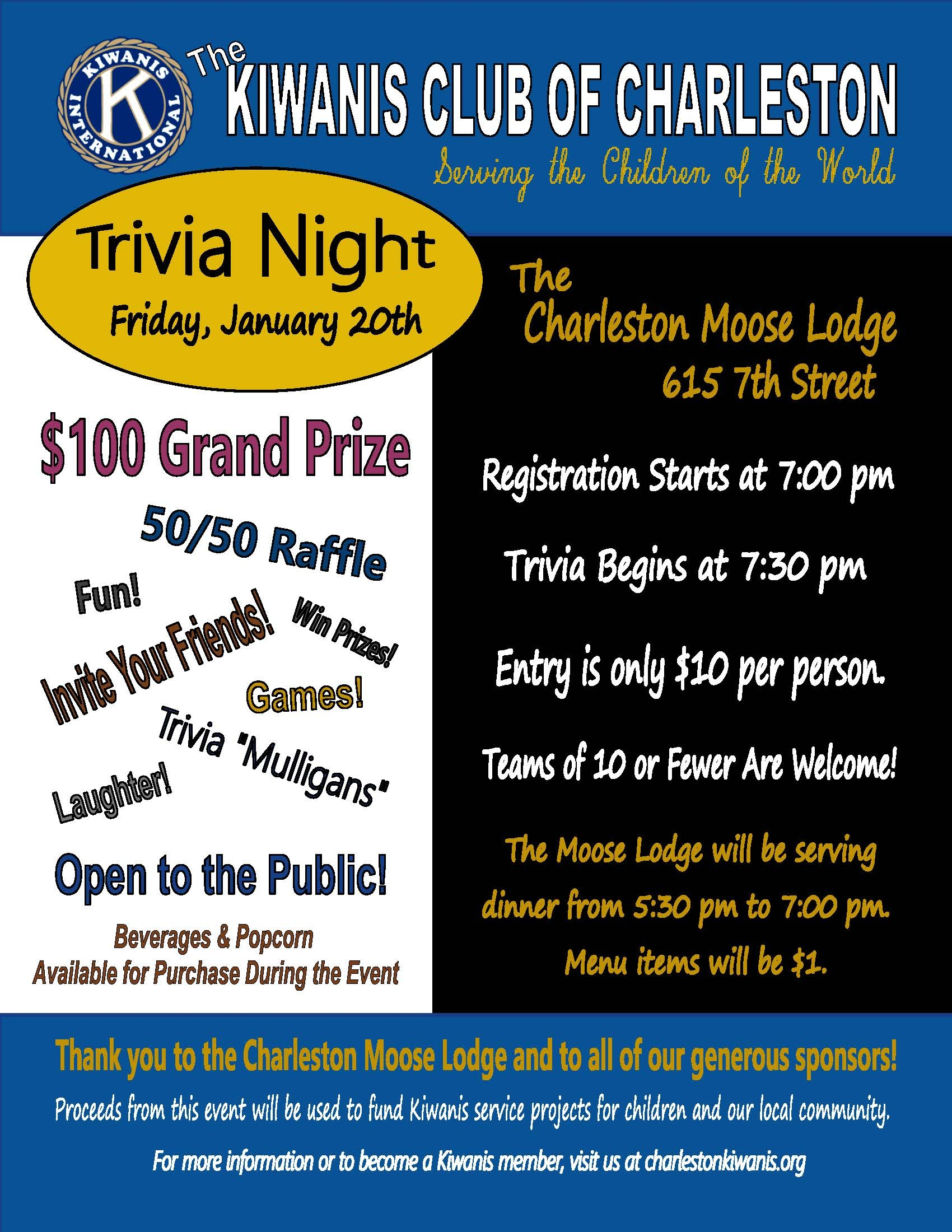 Kiwanis Trivia Night