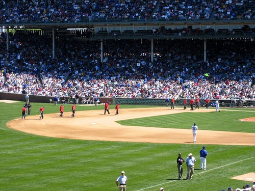 Fire Damages Concession Stand At Wrigley Field