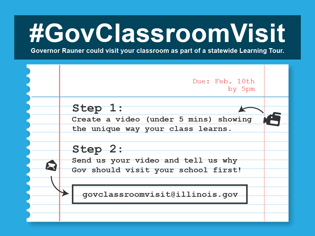Governor Rauner Announces #GovClassroomVisit