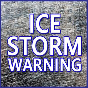 Ice Storm Warning: Friday 9am to Sunday 12pm
