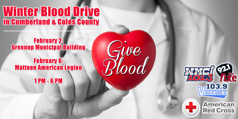 Winter Blood Drive in Cumberland and Coles County
