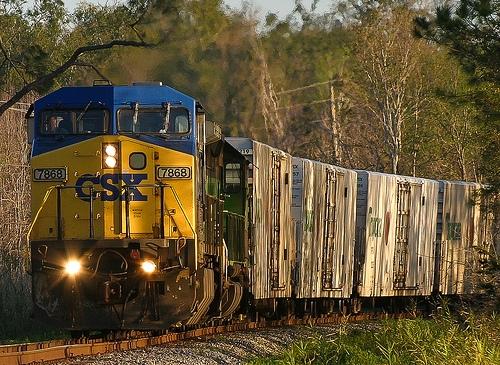 Clark County train de-railment