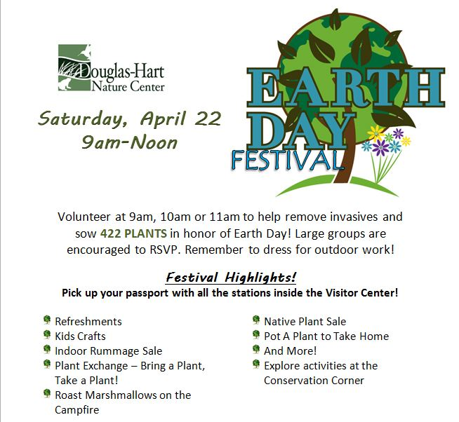 Earth Day Festival at Douglas Hart Nature Center
