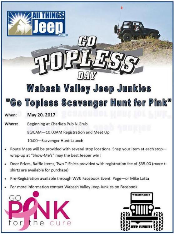 Go Topless Scavenger Hunt for Pink