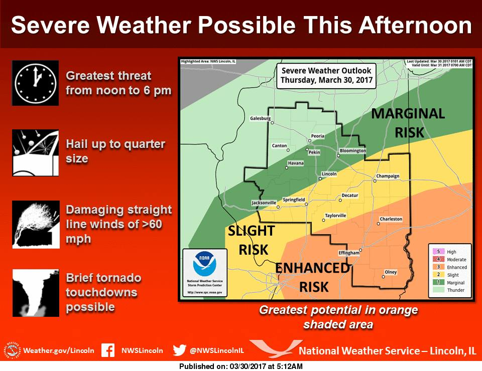 Severe Weather Expected This Afternoon