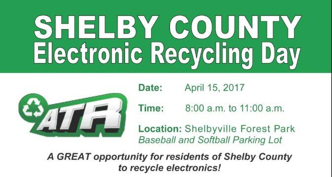 Shelby Co. Electronic Recycling Day This Saturday